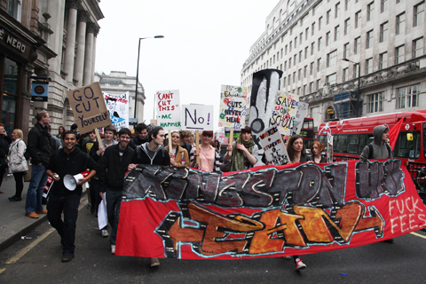 March 26 2011-UK Uncut. Photography by Amelia Gregory