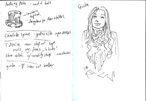sketchbook - Ginta - Anthony Peto - lfw aw11 - jenny robins