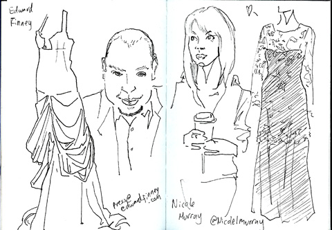 sketchbook - Nicole Murray - Edward Finney - lfw aw11 - jenny robins