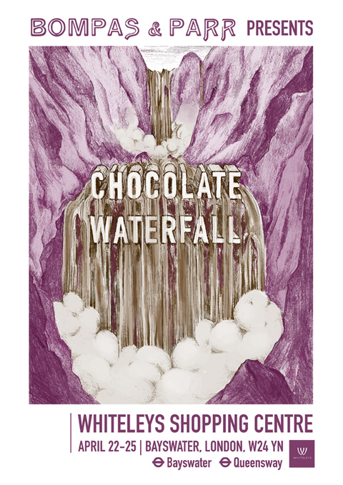 CHOC WATERFALL POSTER bompas and parr