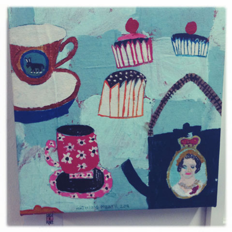 Maiden Big Fat Royal Wedding. High Tea by Arthouse. £80 for original artwork