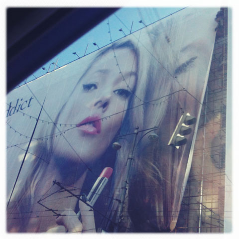 Moscow Dior advertising
