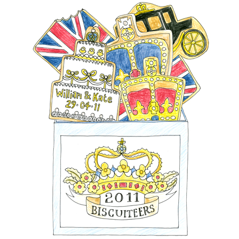 Royal Wedding Biscuits by Rosemary Cunningham