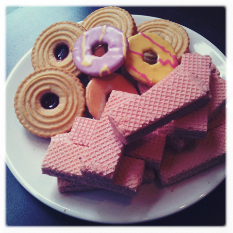 ACOFI Book Tour Fruitmarket Edinburgh 2011 biscuits