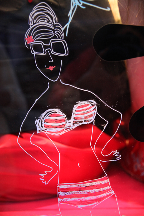 ACOFI Book Tour Tatty Devine Covent Garden-window painting