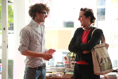 ACOFI book tour Comma Shop Drew and Jo