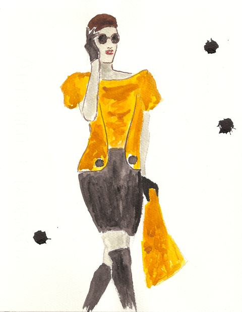 Ewa Kozieradzka Lodz Fashion Week AW 2011 Illustration by Michalis Christodoulou