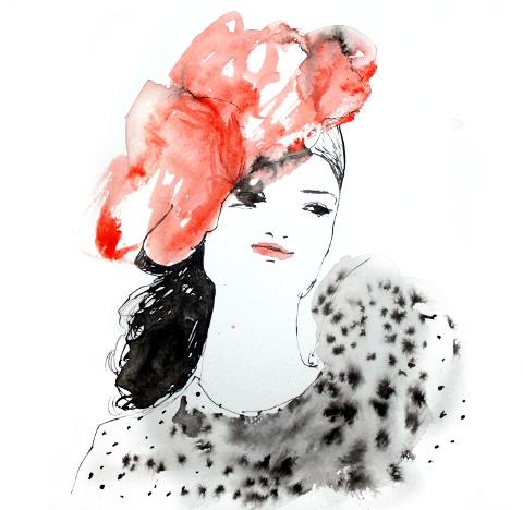 Miriam in Coral by Elsabe Milandri