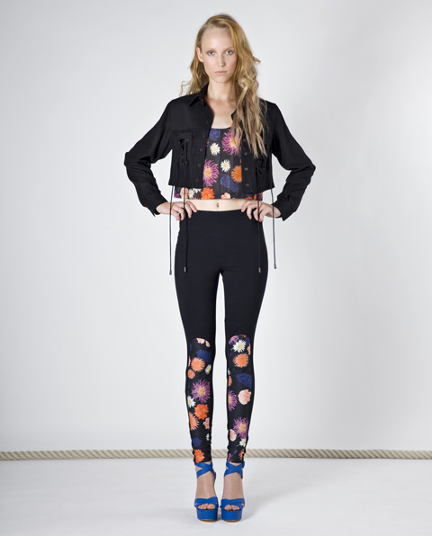 RH Label SS 2011 jacket leggings dahlia