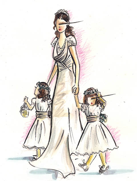 Royal Wedding - Pippa Middleton and bridesmaids by Sara Japanwalla