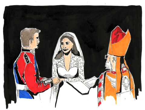 William and Kate exchanging the rings by Kristina Vasiljeva