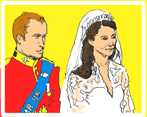 Kate and Wills take their vows by Jenny Robins