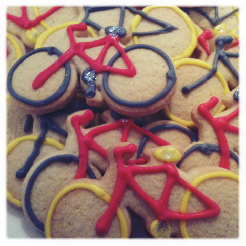 ACOFI book tour Soma Gallery 2011 Hart's Bakery iced bicycle biscuits