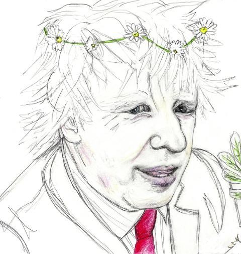 Boris Johnson Visits Food from the Sky by Sam Parr