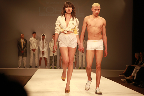 Central Saint Martins Ba Show 2011-Daisy Lowe Josh Bullen photography by Amelia Gregory