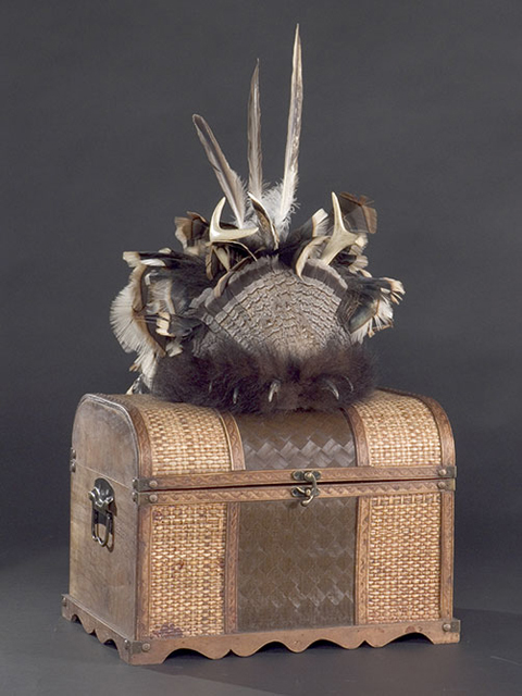 Ceremonial headdress by Owisokon Pauline Lahache