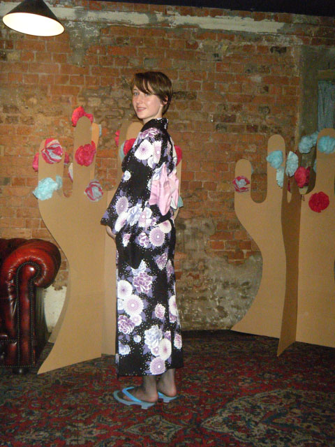 Emma Block_in_a_kimono   Paint it! Make it! Party for Japan