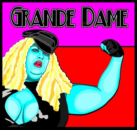 Grande Dame Black Leather