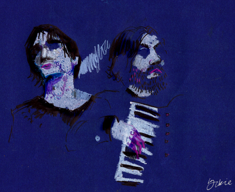 Jon Hopkins and King Creosote by Lorna Scobie