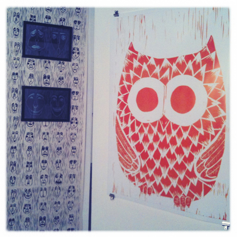 Kingston Illustration graduate exhibition 2011 Claire Benoit Omer Owl