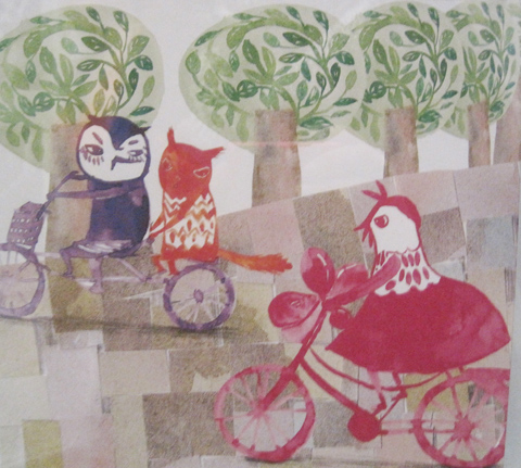Kingston Illustration graduate exhibition 2011 Hey Gyeong Jang owl