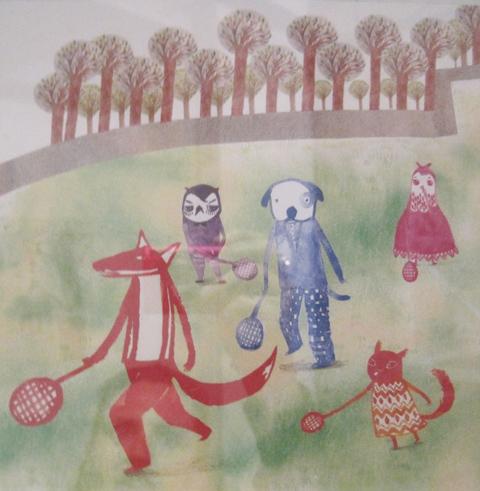 Kingston Illustration graduate exhibition 2011 Hey Gyeong Jang owl