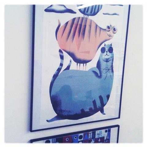 Kingston Illustration graduate exhibition 2011 Jason Munro cat