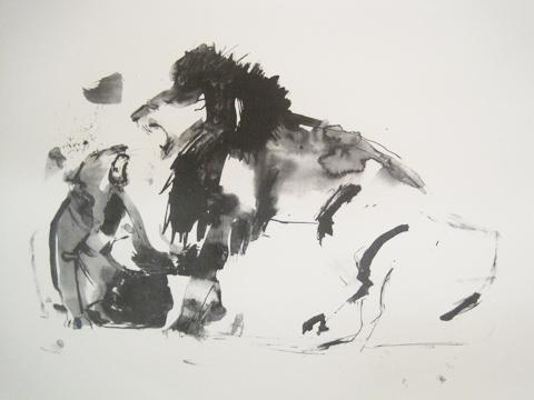 Kingston Illustration graduate exhibition 2011 Sarah Maycock lions