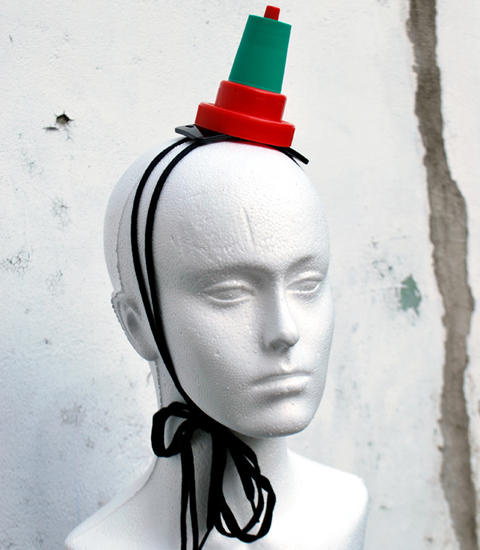 Plastic Seconds Clownish Headpiece