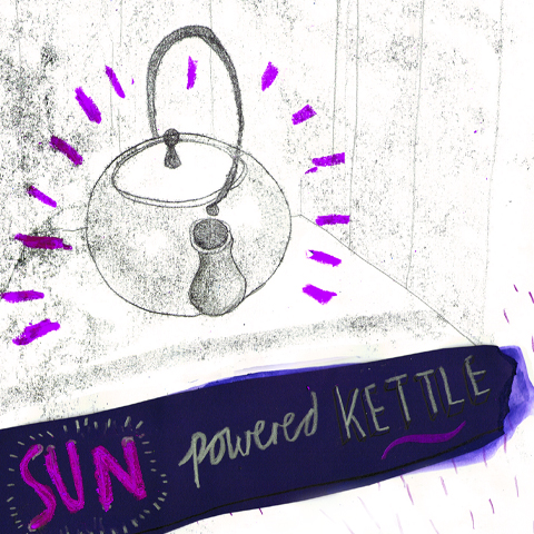 Sun Powered Kettle by Lorna Scobie