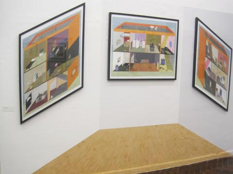 Brighton University illustration graduate show 2011-Joseph Prince