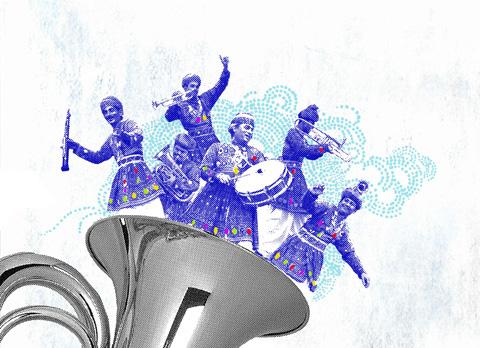 Jaipur Brass Band by Cassandra Yap