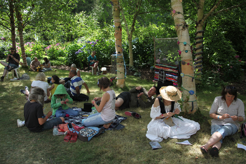 Larmer Tree Festival 2011 review crochet