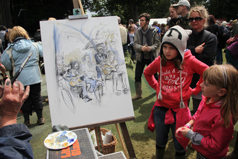 Larmer Tree Festival 2011 review painting