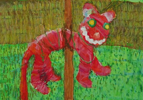 Mad cat in RHSHampton Court by Bern O'Donoghue