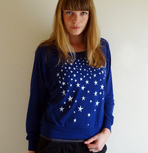Dark is the Night Slouch Sweater by Bonbi Forest