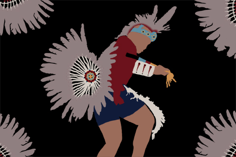 First Nations Mohawk Dancing by Barb Royal