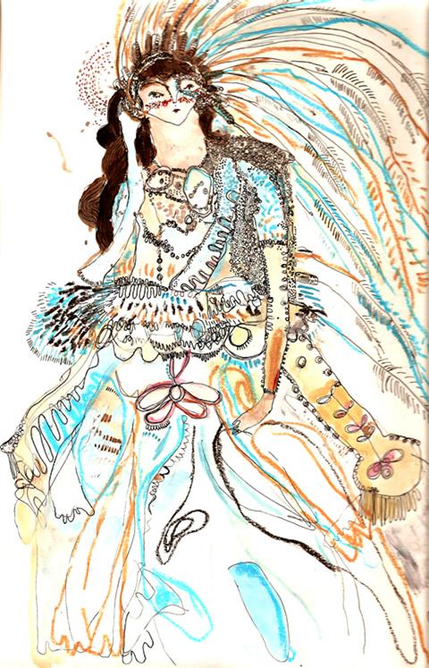 John Paul Gaultier illustration By Melissa Kime