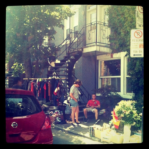 Montreal, Canada 2011 Mile End yard sale