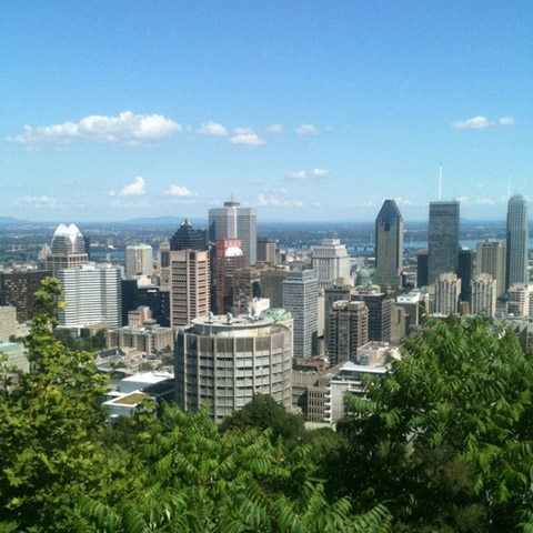 Montreal, Canada 2011 view of downtown