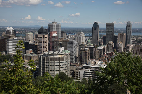 Montreal Festimania 2011 -downtown Montreal from Mont Royale
