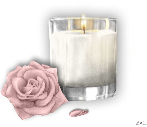 Sandy Bay London luxury candle by Rebecca Higgins