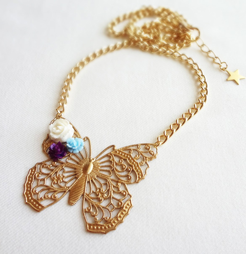 limited edition Sweet Butterfly Pendant by Bonbi Forest
