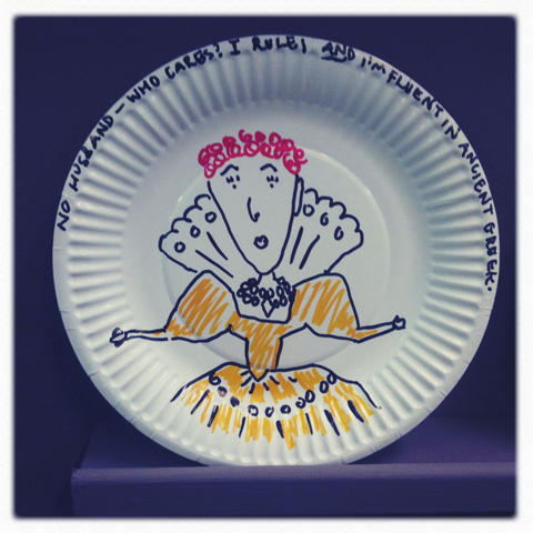 Camberwell illustration MA review 2011-Rachael House feminist disco