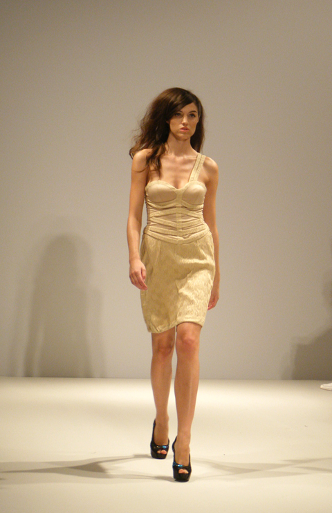 Carlotta Gherzi S/S 2012 cream dress