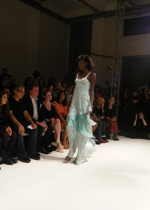 Carlotta Gherzi S/S 2012 aqua dress