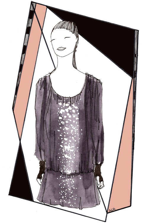 Christian-Blanken S/S 2012 illustrated by Alia Gargum