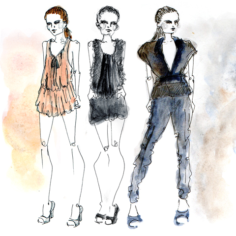 Christian Blanken S/S 2012 illustrated by Kate Eldridge