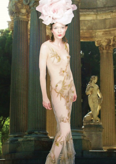 Elisa Palomino Naked Garden Elsa Evening gown SS12