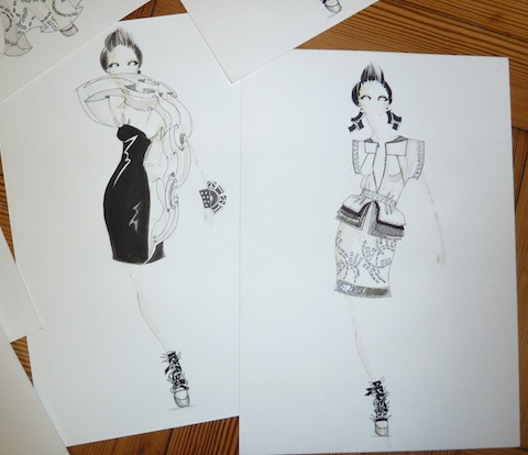 Jasper Garvida S/S '12 illustrations